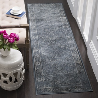 Safavieh Vintage Oriental Blue Distressed Silky Viscose Runner (2' x 8')