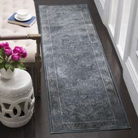 Safavieh Vintage Oriental Blue Distressed Silky Viscose Runner Rug