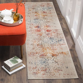 Safavieh Vintage Persian Light Grey/ Multi Distressed Polyester Runner (2' x 8')