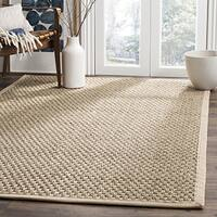 Safavieh Natural Fiber Contemporary Natural/ Beige Seagrass Rug - 3' x 3' square