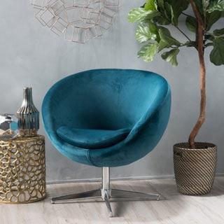 Christopher Knight Home Isla Velvet Fabric Roundback Modern Chair