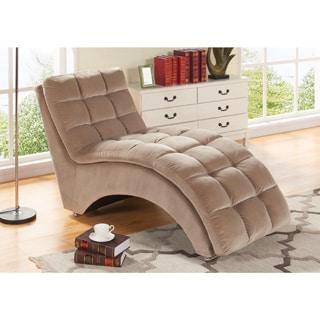 Abbyson Mercer Beige Chaise Lounge