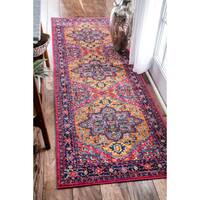 nuLOOM Persian Medallion Orange Runner Rug - 2'8 x 8'