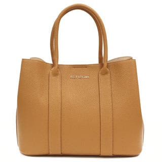 Suzy Levian Pebbled Faux Leather Satchel Handbag