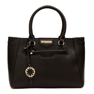 Suzy Levian Saffiano Faux Leather Satchel Handbag