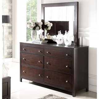 Abbyson Clarkston Espresso 6 Drawer Dresser