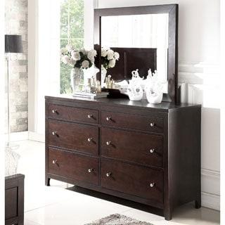 ABBYSON LIVING Clarkston Espresso 6 Drawer Dresser