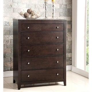 Abbyson Clarkston Espresso 5 Drawer Chest