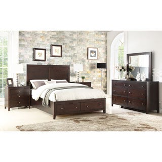 Abbyson Clarkston Espresso 5 Piece Storage Bedroom Set