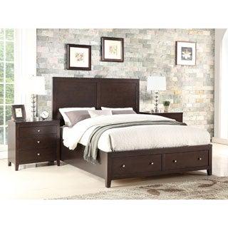 ABBYSON LIVING Clarkston Espresso 3 Piece Storage Bedroom Set