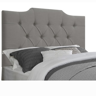 Grey Fabric Queen- or Full-size Tufted Upholstered Headboard