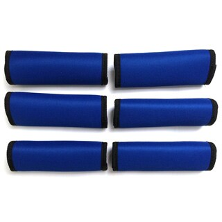 Super Grabber Royal Blue Neoprene Handle Grip Luggage Spotters (Pack of 6)