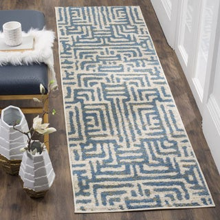 Safavieh Amsterdam Bohemian Ivory/ Light Blue Runner (2' x 8')