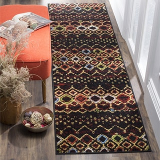 Safavieh Amsterdam Bohemian Black/ Multicolored Runner (2' x 8')