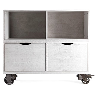 Haven Home Washington Grey Storage Cabinet with Casters by Hives & Honey