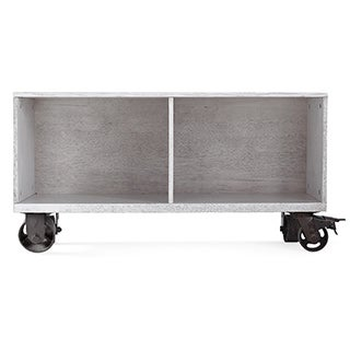 Haven Home Cain Grey Storage Cabinet Bookcase with Casters by Hives & Honey