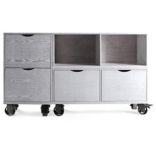 Haven Home Archer Grey Storage Unit with Casters by Hives & Honey