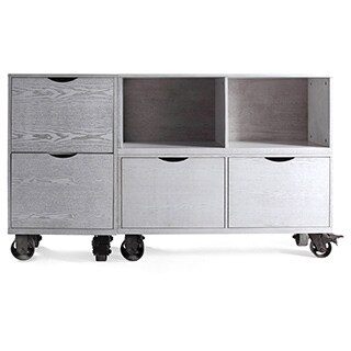 The Gray Barn Brick House Grey Storage Unit with Casters