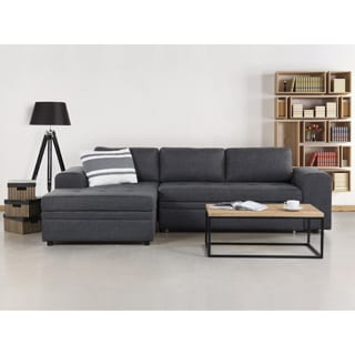 Kiruna Grey Upholstered Sleeper Sectional Sofa with Storage