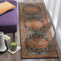 Safavieh Evoke Vintage Medallion Blue/ Orange Distressed Runner (2' 2 x 7') - 2' 2 x 7'