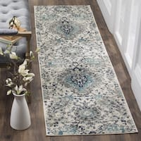 Safavieh Madison Bohemian Cream/ Light Grey Runner (2' 3 x 10')
