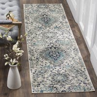 Safavieh Madison Bohemian Cream/ Light Grey Runner Rug - 2' 3 x 10'