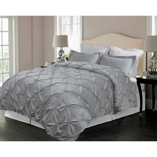 Floral Pintuck Down Alternative 3-piece Comforter Set (More options available)