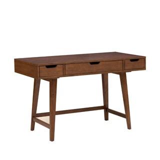 Mid-century Modern Light Walnut Finished Writing Desk
