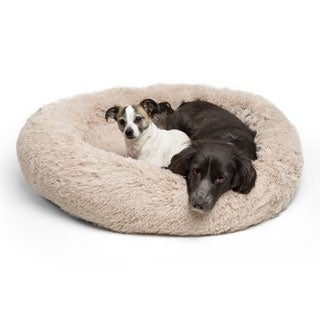 Best Friends by Sheri Polyester Shag Donut Bed