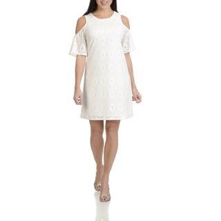 Rabbit Rabbit Rabbit Designs Women's Lace Cold Shoulder Dress