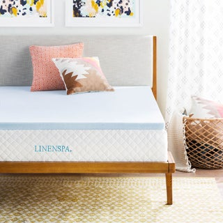 OSleep Linenspa 2-inch Gel Memory Foam Mattress Topper