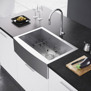 Exclusive Heritage 30 x 21 Single Bowl Stainless Steel Kitchen Farmhouse Apron Front Sink