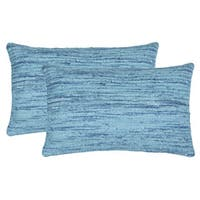 Safavieh 20-inch Eloise Brilliant Blue Decorative Pillow (Set Of 2)