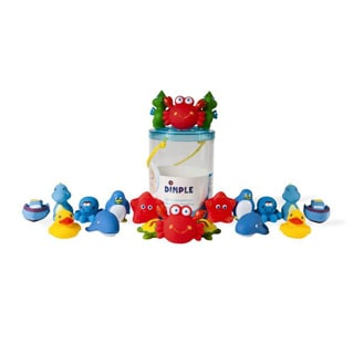 Dimple DC12390 Multicolored Vinyl Non-toxic Floating Bath Toys (Case of 20)