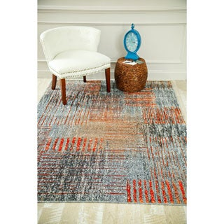 Persian Rugs Beverly Collection Rustic Contemporary Grey Area Rug (2' x 3'4)