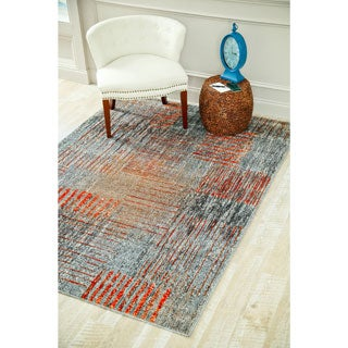 Persian Rugs Beverly Collection Rustic Contemporary Grey Polypropylene Area Rug (6'5 x 9'2)