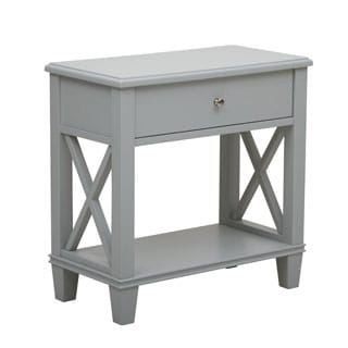 Grey Finish Accent End Table