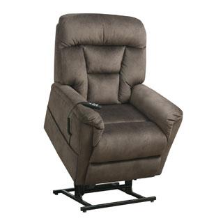 Rockford Rustic Brown Fabric Power Dual Motor Lift Chair Recliner