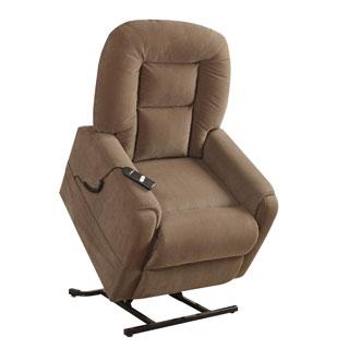 Hamilton Brown Fabric Power Dual Motor Lift Chair Recliner