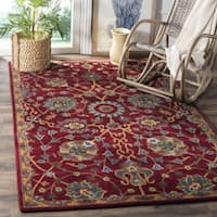 Safavieh Hand-Woven Heritage Red Wool Rug (5' x 8')