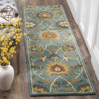 Safavieh Hand-Woven Heritage Light Blue Wool Runner (2' x 8')