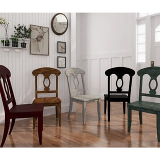 Eleanor Napoleon Back Wood Dining Chair (Set of 2) by TRIBECCA HOME