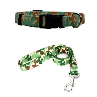 Yellow Dog Design Camo Pet Standard Collar & Lead Set