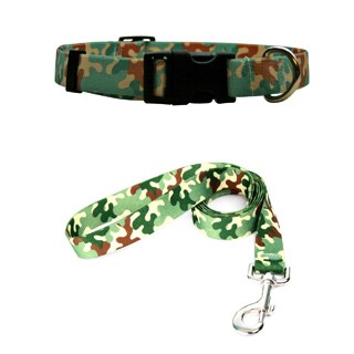 Yellow Dog Design Camo Pet Standard Collar & Lead Set