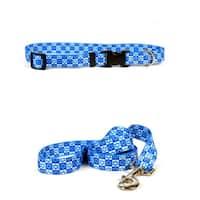 Yellow Dog Design Hanukkah Stars Pet Standard Collar & Lead Set