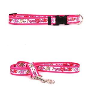 Yellow Dog Design Be My Valentine Pet Standard Collar & Lead Set