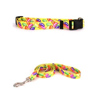 Yellow Dog Design Jelly Beans Standard Collar and Lead Set