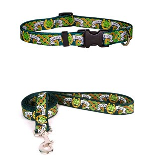 Yellow Dog Design Lucky Dog Standard Collar and Lead Set