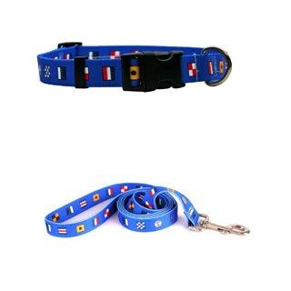 Yellow Dog Design Nautica Dog Standard Collar & Lead Set
