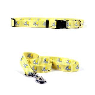 Yellow Dog Yellow Elephant Pet Standard Collar & Lead Set